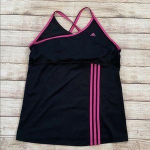 Adidas Activewear Black/ Pink Tank Top